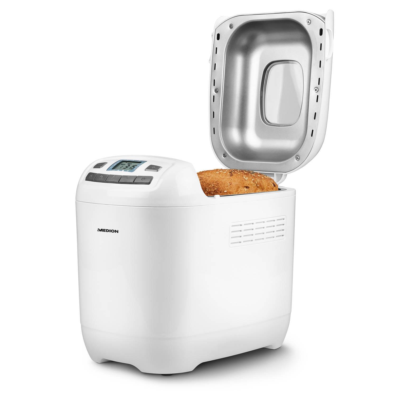 Dagaanbieding - Broodbakmachine MD 18636 12 Bakprogramma's 3 selecteerbare bruiningsgraden 650 Watt 1000g capaciteit dagelijkse koopjes