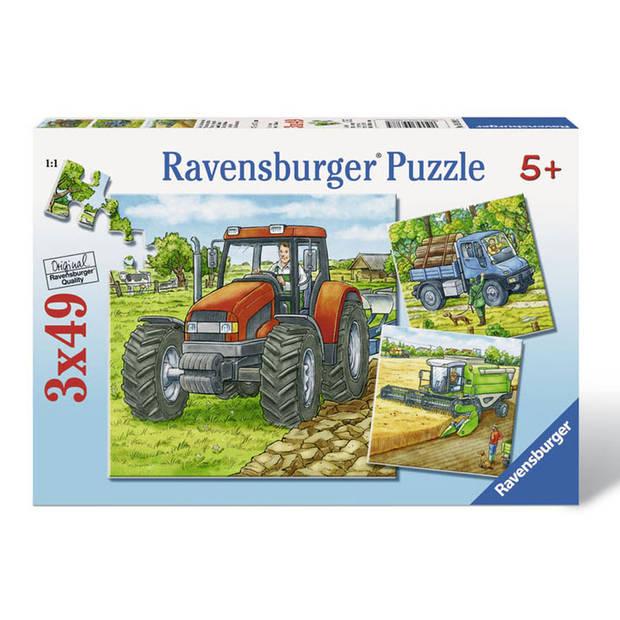 Ravensburger puzzel grote landbouwmachine - 3 x 49 stukjes