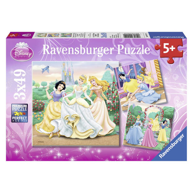 Ravensburger Disney Princess puzzelset Prinsessendroom - 3 x 49 stukjes