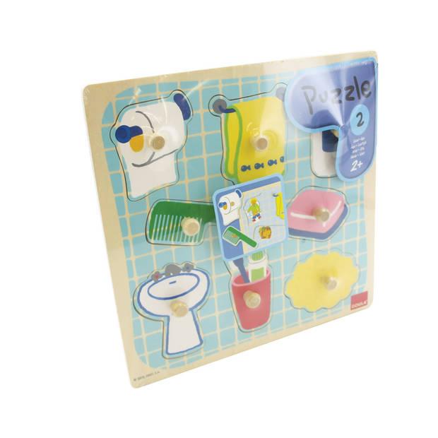 Jumbo Goula houten puzzel badkamer - 8 stukjes
