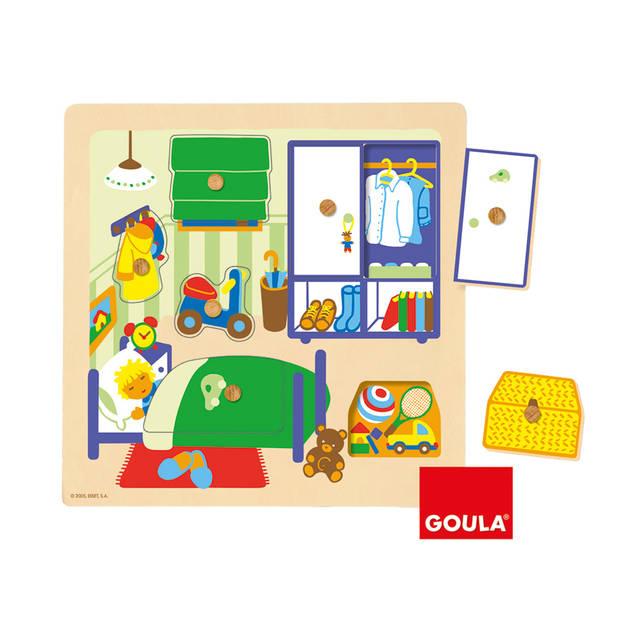 Goula houten puzzel kinderkamer