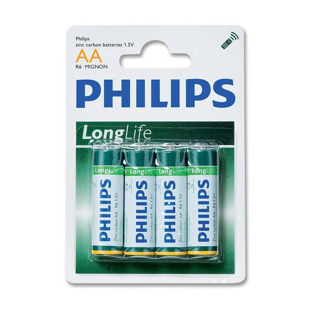 4 X AA batterij Philips