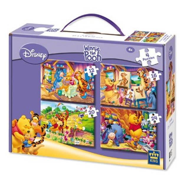 Disney Princess 4-in-1 puzzelset - 12 + 16 + 20 + 24 stukjes