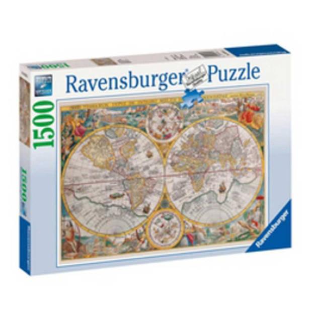 Ravensburger puzzel wereldkaart 1594 - 1500 stukjes