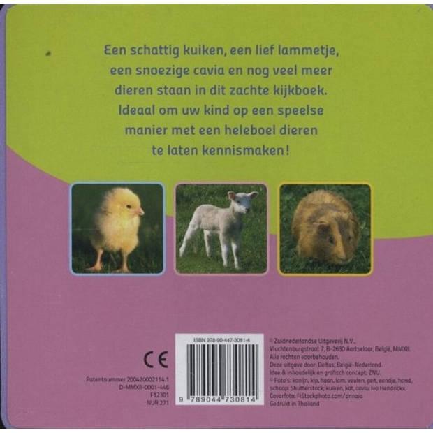 Deltas foamboek baby's vrolijke dierenkijkboek 15 cm