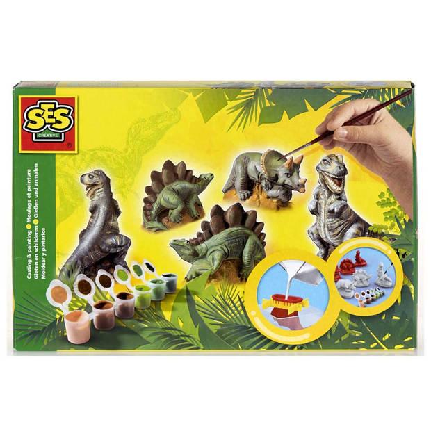 SES Gieten en schilderen Dino's