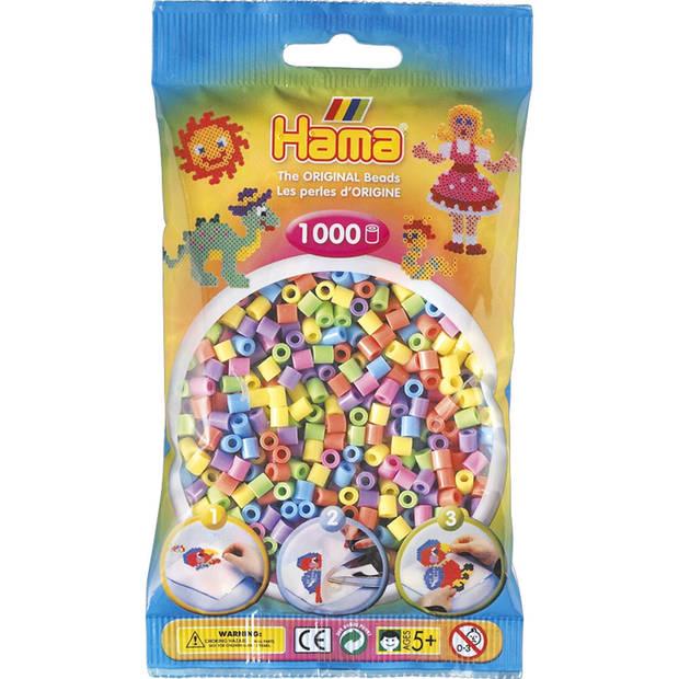 Hama strijkkralen - pastel - 1000 stuks