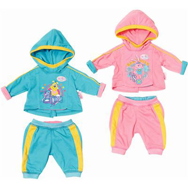 Kleding Baby Born Sporty Collection Assorti