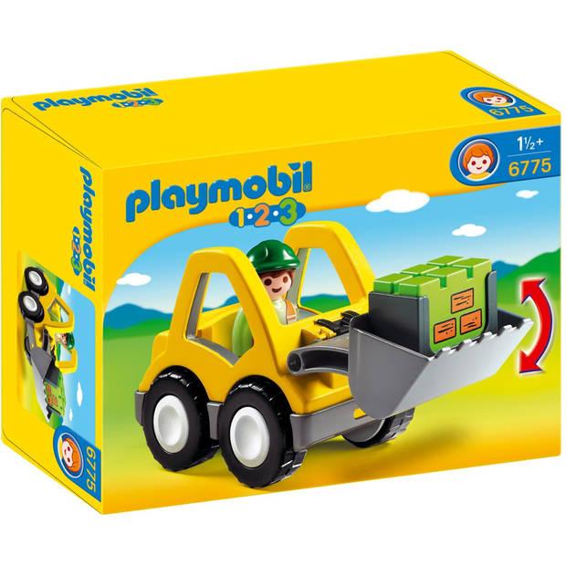 PLAYMOBIL 1.2.3 graafmachine met werkman 6775