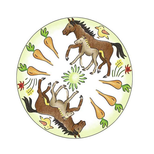Ravensburger Mandala midi paarden 2-in-1