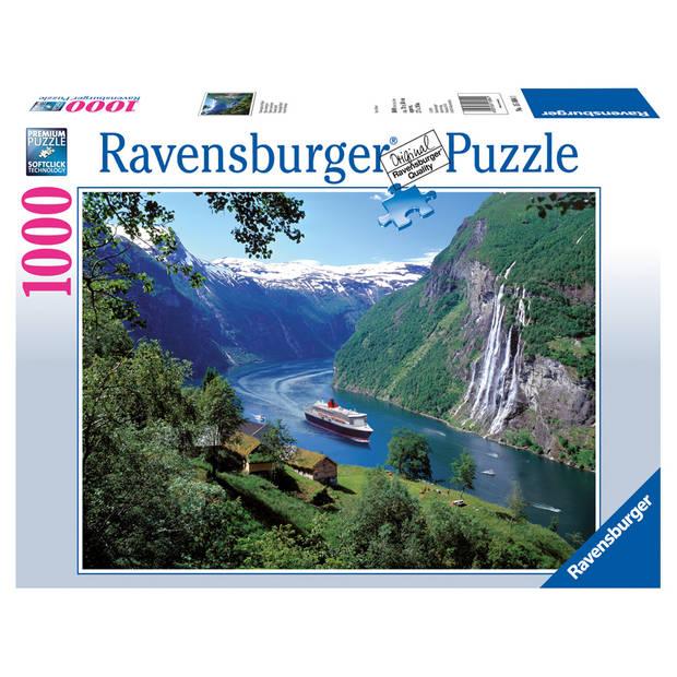 Ravensburger puzzel Noors fjord - 1000 stukjes