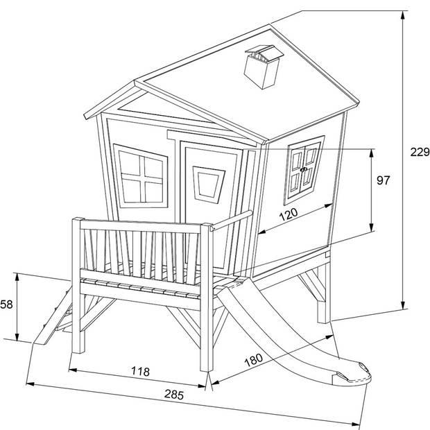AXI houten speelhuis Iris met glijbaan