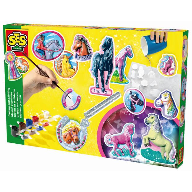 SES Figuren gieten en schilderen Paarden