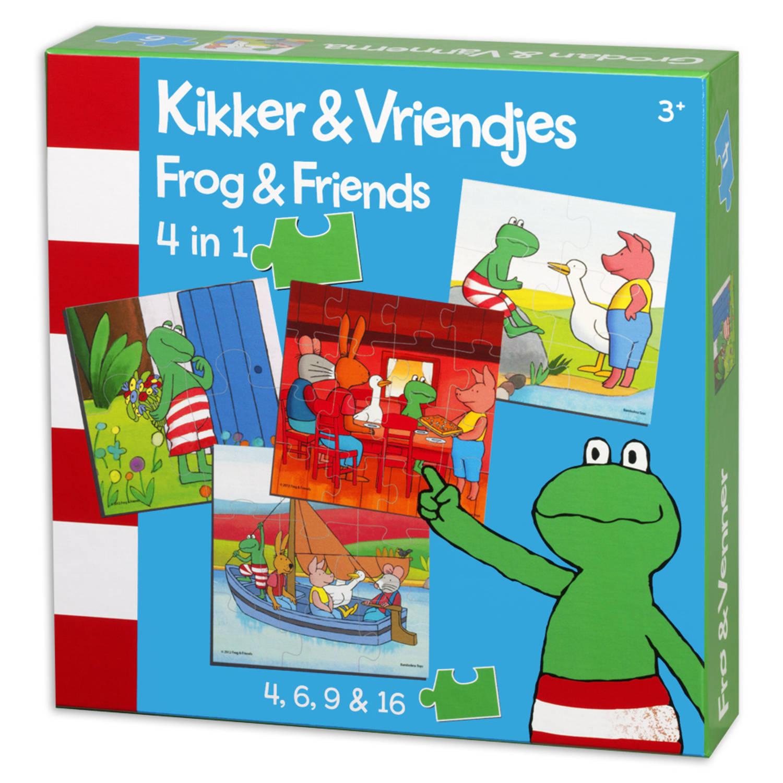 Afbeelding van Kikker & vriendjes 4-in-1 puzzel - 4 + 6 + 9 + 16 stukjes