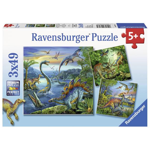 Ravensburger puzzel dinosaurus - 3 x 49 stukjes