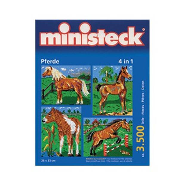 Ministeck paard met achtergrond