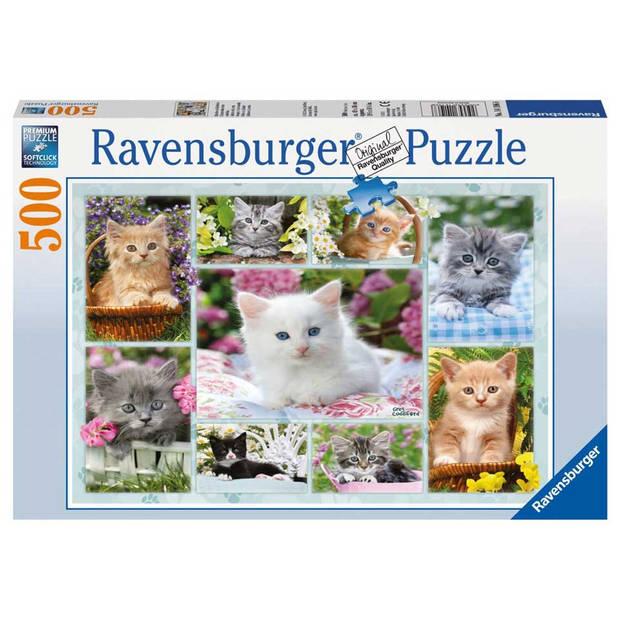 Ravensburger puzzel poesjes in hun mandje - 500 stukjes
