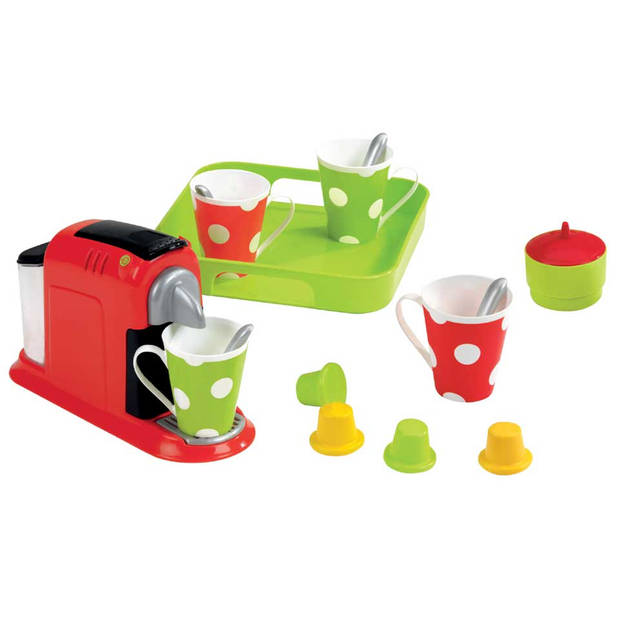 Ecoiffier speelgoed espressomachine met servies