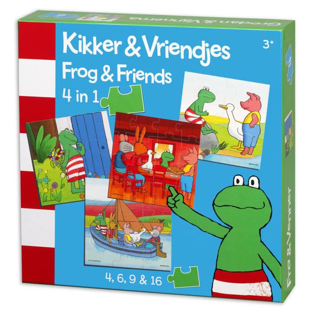 Kikker & vriendjes 4-in-1 puzzel - 4 + 6 + 9 + 16 stukjes