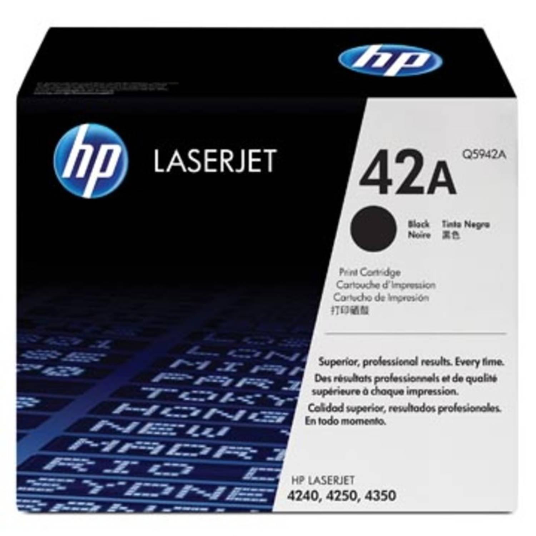 HP Tonercartridge zwart 42X - 20000 pagina's - Q5942X