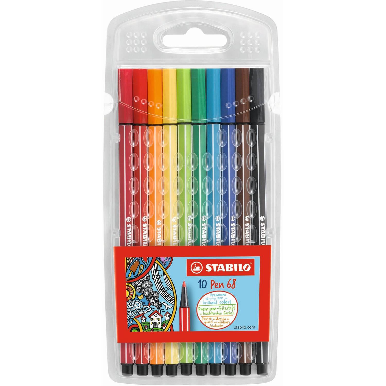 Stabilo Pen 68 viltstiften 10 stuks