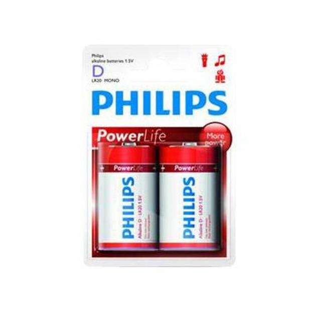 2 X D batterij Philips