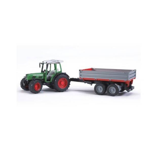 Fendt 209 tractor + kiep aanhanger