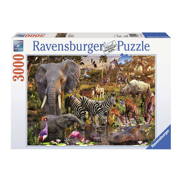 Ravensburger puzzel Afrikaanse dierenwereld - 3000 stukjes