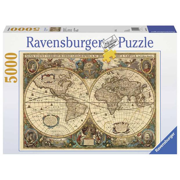 Ravensburger puzzel antieke wereldkaart - 5000 stukjes