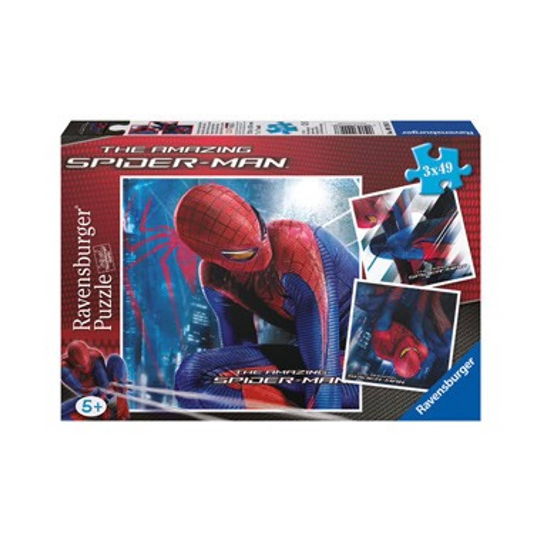 3x49 Stuks Puzzel Dappere Spider-Man