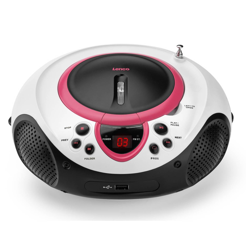 Lenco radio/cd-speler scd-38 - roze