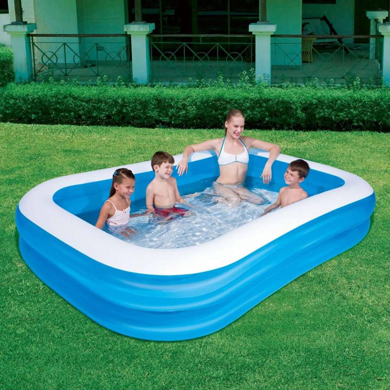 Bestway Familiezwembad 262x175x51 Cm Blauw Wit Blokker
