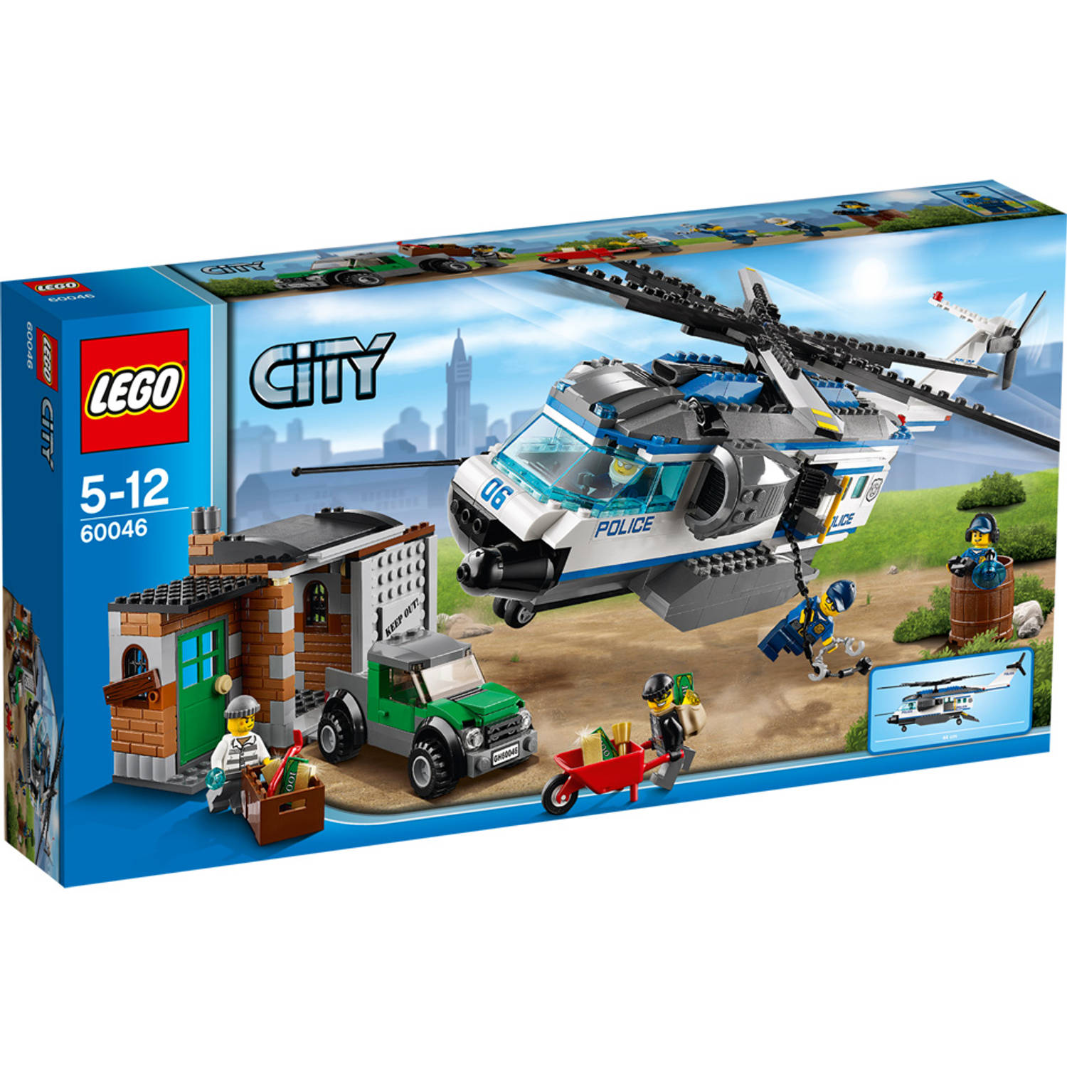 LEGO City helicopter patrouille 60046