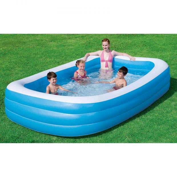 Bestway familiezwembad - 305x180x55 cm - blauw