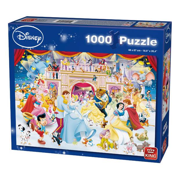 King puzzel Disney princess dansen - 1000 stukjes