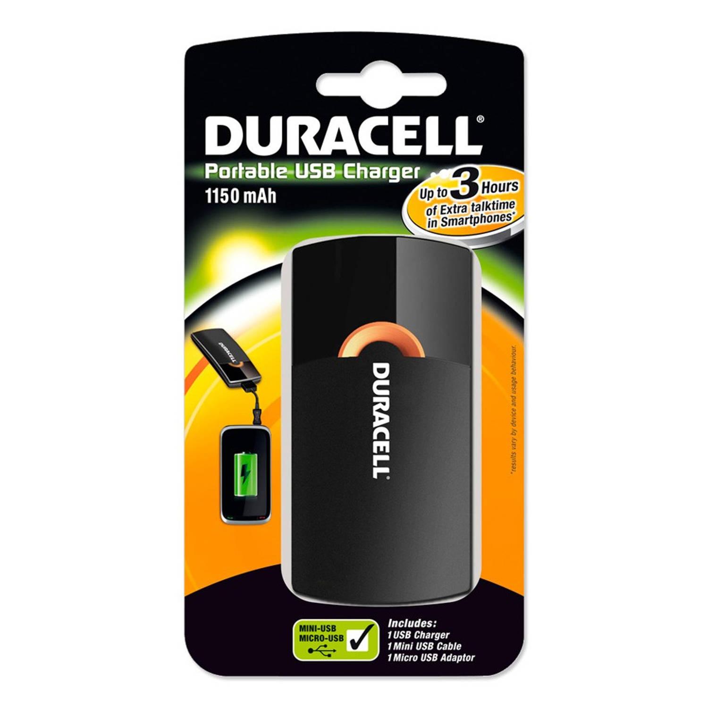Duracell Oplaadbare mobiele oplader 3-uurs variant o.a. het opladen van smartphones Stuks