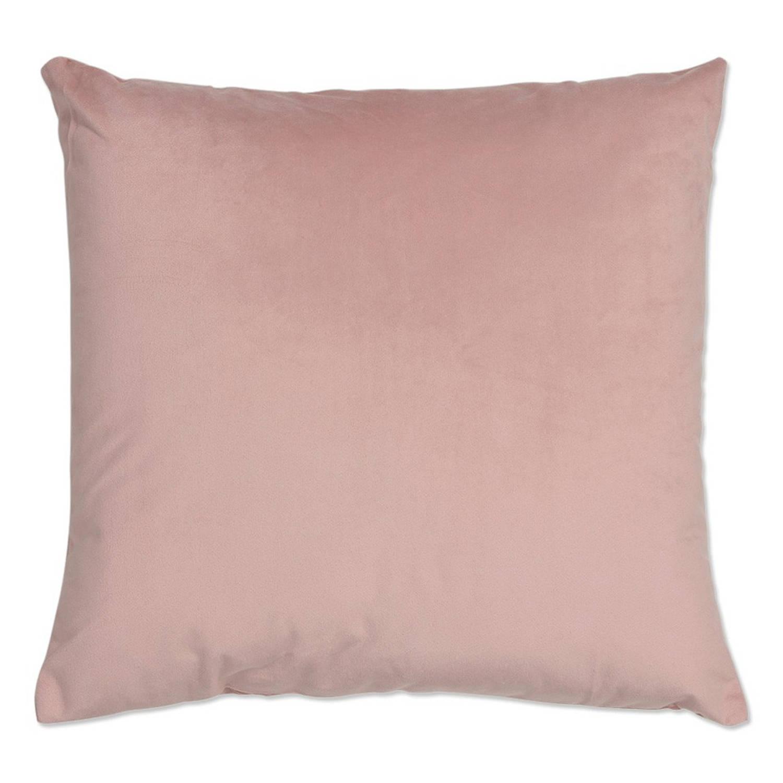 Kussenhoes velours 45x45 cm oud roze blokker for Oud roze accessoires huis