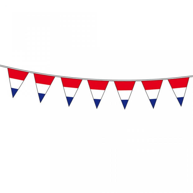Vlaggenlijn rood wit blauw - 10 meter