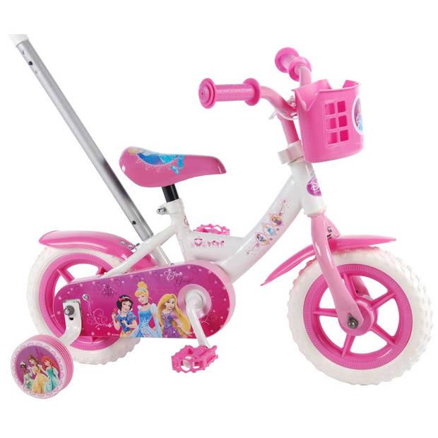 Disney Princess meisjesfiets - 10 inch - wit/roze