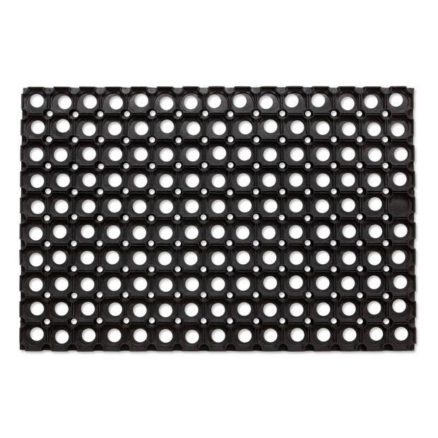 Multimat deurmat (rubberringmat) zwart 40X60 cm