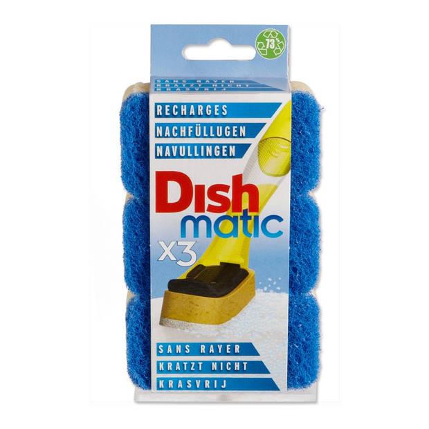 Dishmatic Easy-do RF schuursponzen blauw krasvrij 3 stuks