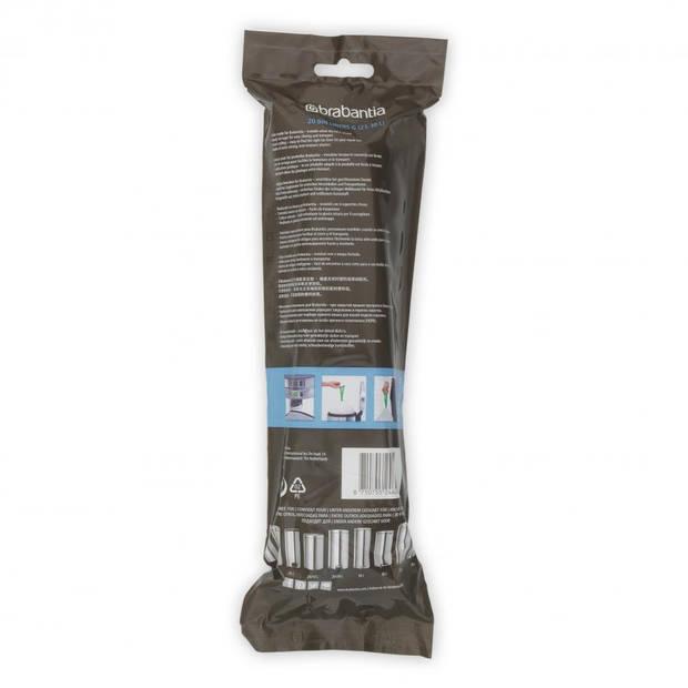 Brabantia PerfectFit afvalzak met trekbandsluiting code G, 23-30 liter, 20 stuks/rol - Wit