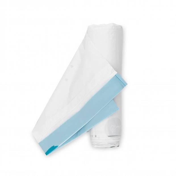 Brabantia PerfectFit afvalzak met trekbandsluiting code F, 20 liter, 20 stuks/rol (Slimline) - White