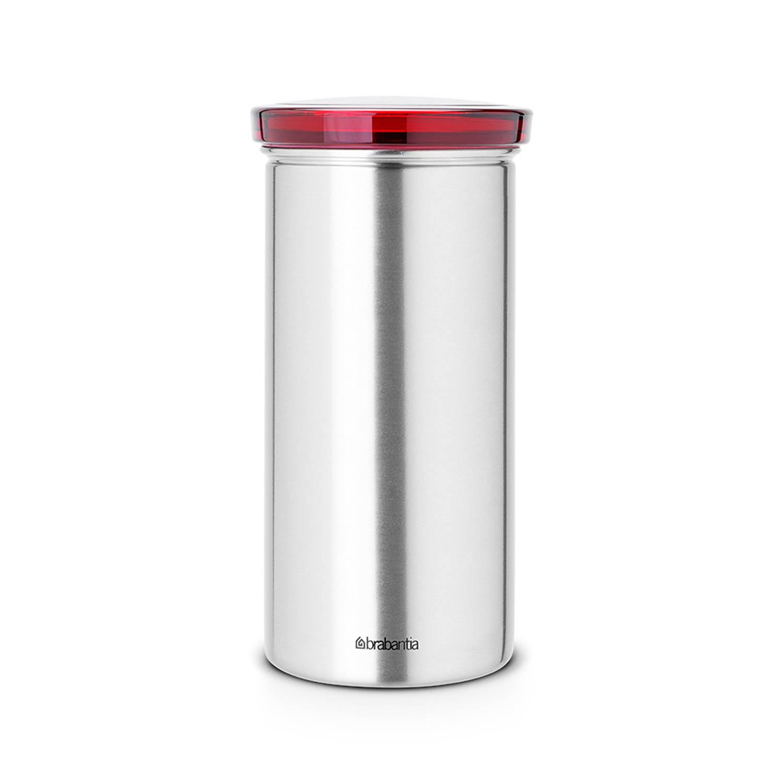 Brabantia Voorraadbus Voor 18 Koffie- En Theepads - Matt Steel Fpp/rood