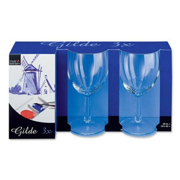 Rodewijn glazen Gilde (3 stuks)