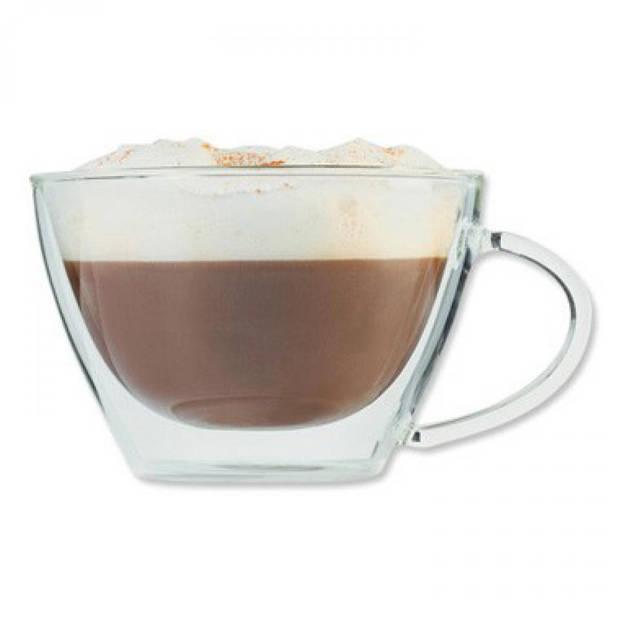 Cappuccinoglas dubbelwandig
