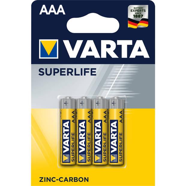 Varta Superlife AAA-batterijen 4 stuks
