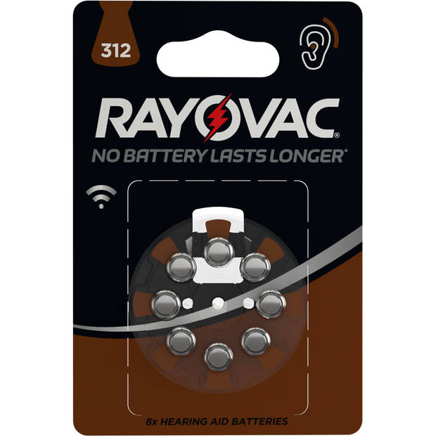 Rayovac gehoorbatterijen V312 8 stuks
