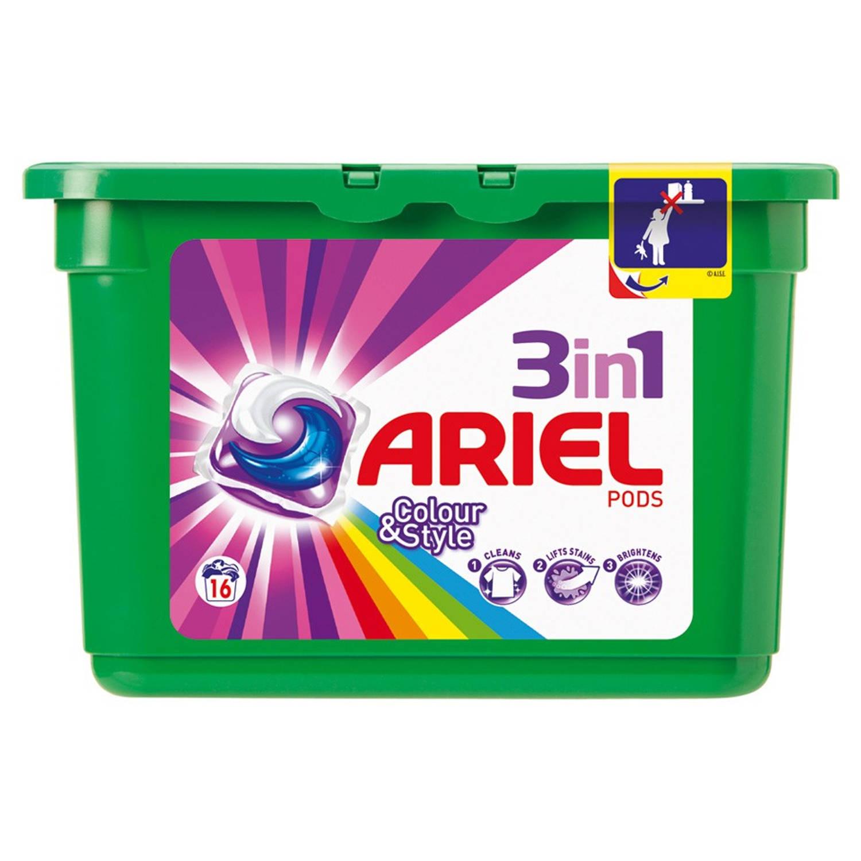 Afbeelding van Ariel 3-in-pods Colour & Style wasmiddel - 16 wasbeurten