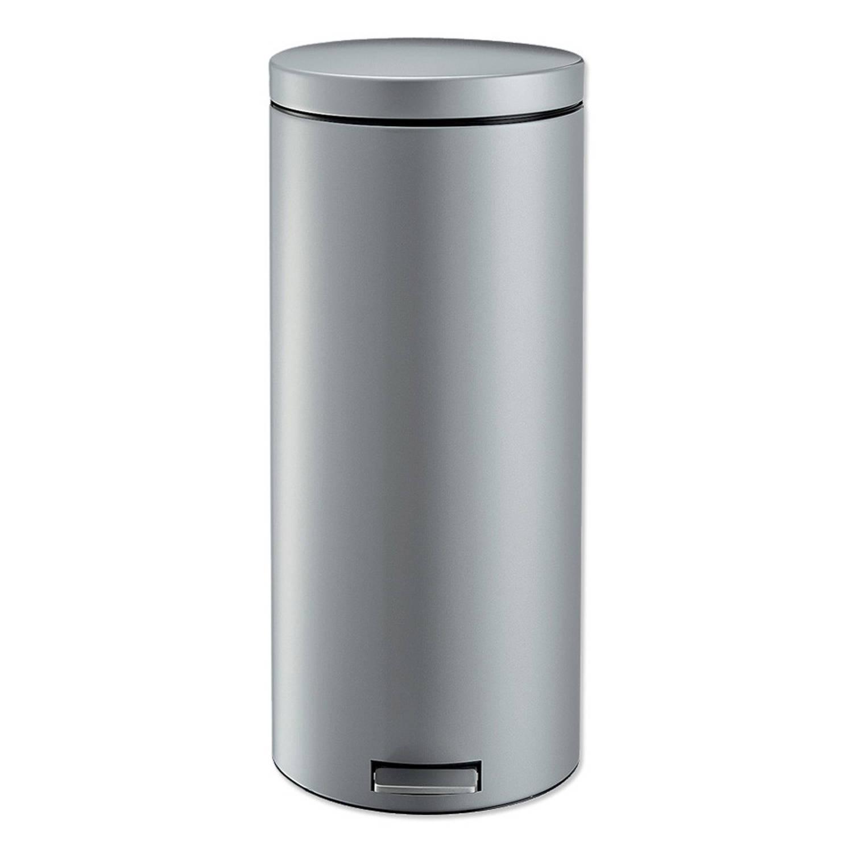 Brabantia Basic Pedaalemmer.Brabantia Basic Pedaalemmer 29l Metallic Grey